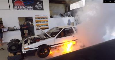 Finally got the ae86 on the Dyno